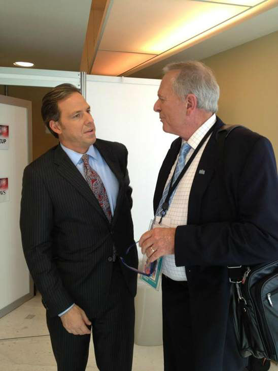 Talking with ABC&#39;s Jake Tapper. <span class=meta>(WTVD Photo)</span>