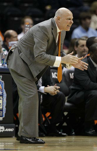 "<div class=""meta ""><span class=""caption-text "">Virginia Tech head coach Seth Greenberg speaks during the first half of an NCAA college basketball game against the Virginia Tech in the quarterfinals of the Atlantic Coast Conference tournament, Friday, March 9, 2012, in Atlanta.  (AP Photo/ Chuck Burton)</span></div>"