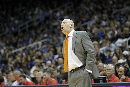 Virginia Tech head coach Seth Greenberg speaks during the first half of an NCAA college basketball game against the Virginia Tech in the quarterfinals of the Atlantic Coast Conference tournament, Friday, March 9, 2012, in Atlanta.  <span class=meta>(AP Photo&#47; John Bazemore)</span>