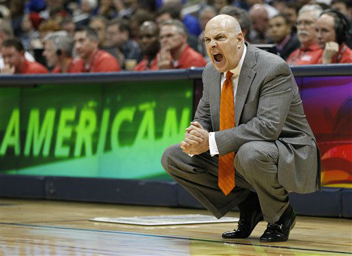 "<div class=""meta ""><span class=""caption-text "">Virginia Tech head coach Seth Greenberg speaks during the first half of an NCAA college basketball game against the Virginia Tech in the quarterfinals of the Atlantic Coast Conference tournament, Friday, March 9, 2012, in Atlanta.  (AP Photo/ John Bazemore)</span></div>"