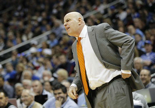 "<div class=""meta image-caption""><div class=""origin-logo origin-image ""><span></span></div><span class=""caption-text"">Virginia Tech head coach Seth Greenberg reacts during the first half of an NCAA college basketball game against Duke in the quarterfinals of the Atlantic Coast Conference tournament, Friday, March 9, 2012, in Atlanta.  (AP Photo/ John Bazemore)</span></div>"