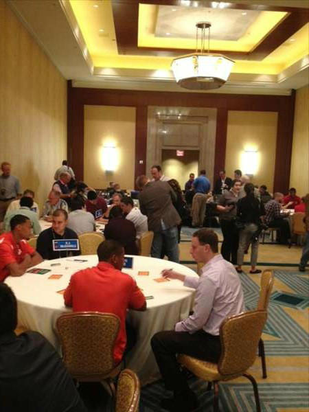 Media room for players <span class=meta>(WTVD Photo&#47;Charlie Mickens)</span>