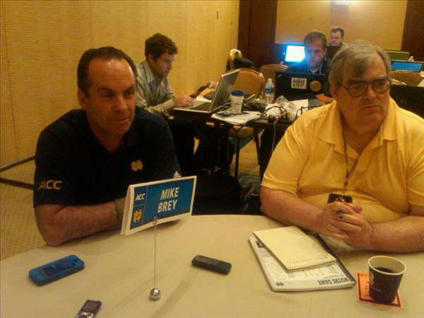 Notre Dame&#39;s Mike Brey <span class=meta>(WTVD Photo&#47; Charlie Mickens)</span>
