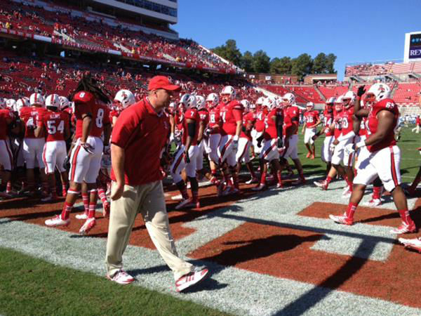 First-year Wolfpack coach Dave Doeren is making his debut in the most important game to his school&#39;s fan base  <span class=meta>(Photo&#47;Charlie Mickens)</span>