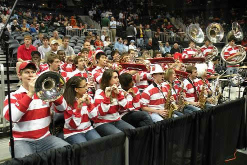 The band made the trip with the basketball team to Atlanta <span class=meta>(WTVD&#47;Britt Guarglia)</span>