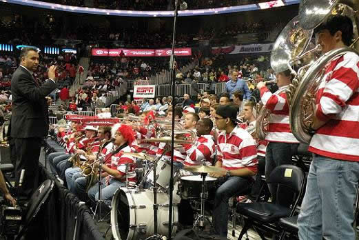 The band made the trip to Atlanta with the basketball team. <span class=meta>(WTVD&#47;Britt Guarglia)</span>