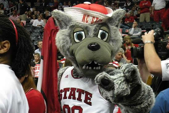It wouldn&#39;t be an NC State game without Mr. Wuf in attendance <span class=meta>(WTVD&#47;Britt Guarglia)</span>