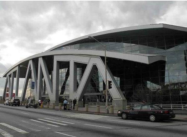 Atlanta&#39;s Philips Arena is the home to all the ACC Tournament action in 2012 <span class=meta>(WTVD&#47;Britt Guarglia)</span>
