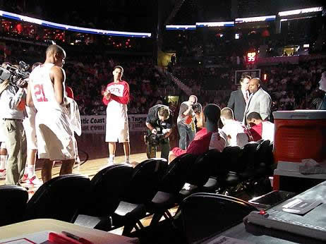 NC State players during pregame introductions <span class=meta>(WTVD&#47;Britt Guarglia)</span>