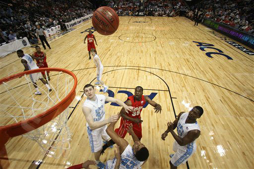 "<div class=""meta image-caption""><div class=""origin-logo origin-image ""><span></span></div><span class=""caption-text"">The quarterfinals of the Atlantic Coast Conference tournament, Friday, March 9, 2012, in Atlanta. North Carolina won 85-69. (AP Photo/John Bazemore)</span></div>"