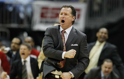 North Carolina State head coach Mark Gottfried reacts to play against Virginia during the second half of an NCAA college basketball game in the quarterfinals of the Atlantic Coast Conference tournament,  Friday, March 9, 2012, in Atlanta.  <span class=meta>(AP Photo&#47; John Bazemore)</span>
