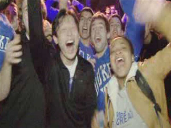 Duke students celebrate after the win. <span class=meta>(WTVD Photo)</span>