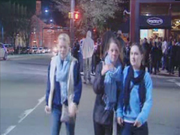 UNC students show their disappointment after the loss. <span class=meta>(WTVD Photo)</span>