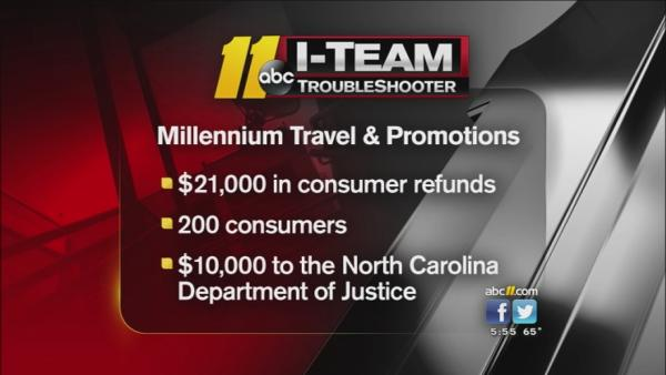 NC Attorney General sues Millennium Travel
