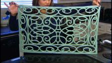 DIY Vintage Iron Wall Art