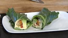 Collard Green Hummus Wraps