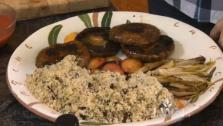 Grilled Portobello Mushrooms with Plum Sauce and Quinoa Salad Recipe