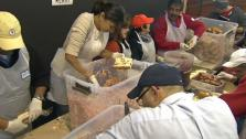 Prepping Food for Thousands in Need