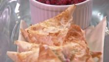 Cranberry Goat Cheese Turnovers