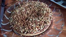 The completed Chocolate Hazelnut Mousse Cake that Ryan made for Nigella Lawson.