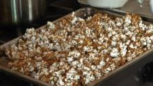 This recipe for caramel corn tastes just like the kind you would find at the ballpark.