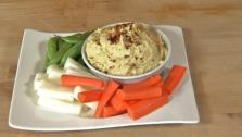The rich flavor of this hummus recipe comes from cooking the garbanzo beans.