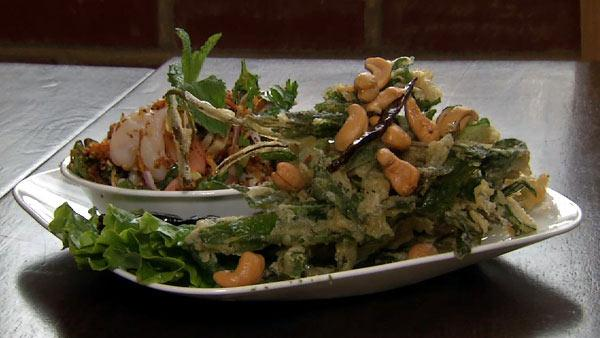 Thai Crispy Watercress Salad