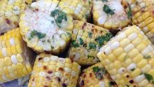 Grilled Corn with Cilantro Coriander Butter