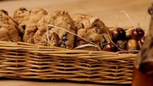 Bourbon, Raisin and Walnut Cookies