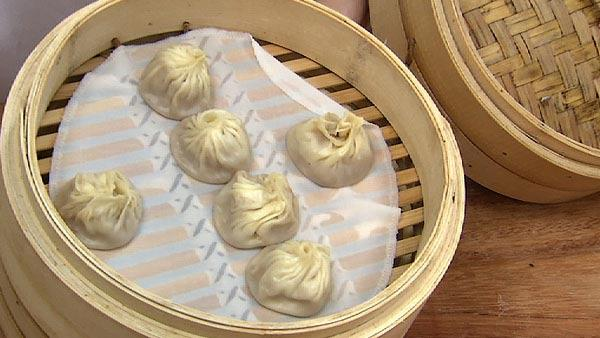 Pork dumplings recipe food rush the live well network shanghai soup with steamed pork dumplings forumfinder Image collections