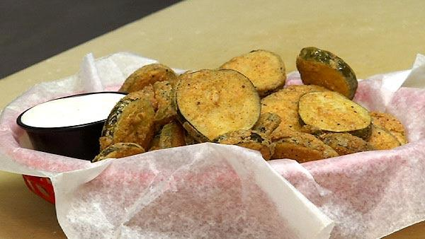 Tobasco Fried Pickles