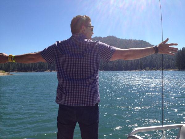 Ryan having a Leonardo DiCaprio moment in Bass Lake, California.