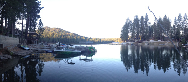 The beautiful scenery at Bass Lake, California