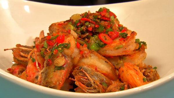 Salt and Pepper Whole Prawns