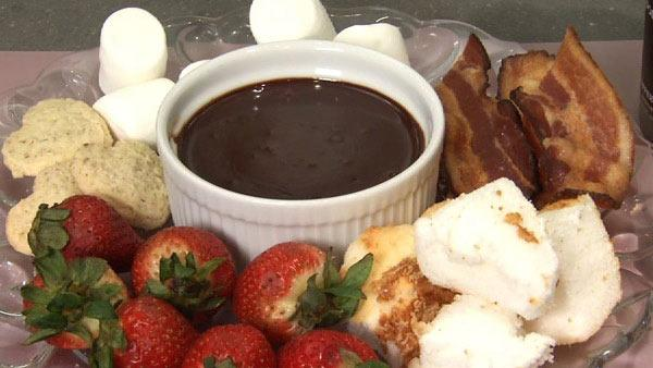Sweet and Spicy Chocolate Fondue