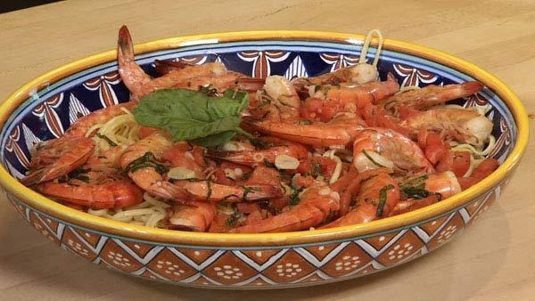 Brined Shrimp Sauteed with Fresh Tomato