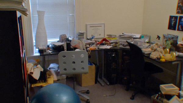 A Cluttered, Messy Home Office