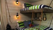 DIY Suspended Bunk Beds