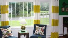 Dress up your space with a high-end look by making your own striped curtains with this easy DIY home decorating project.