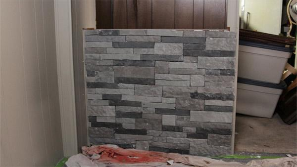 DIY Faux-Stone Bar