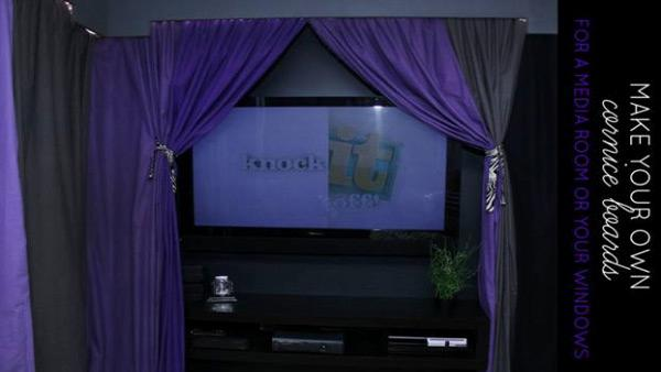 DIY Cornice Boards and Theater Curtains