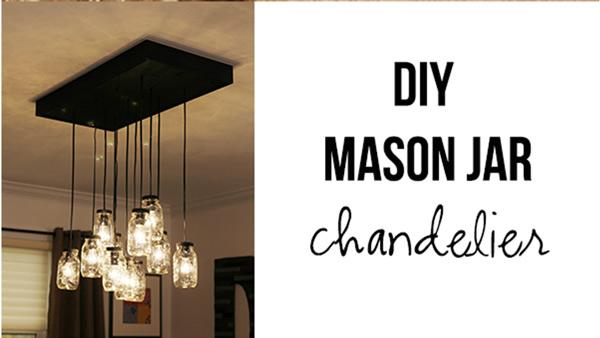 DIY Mason Jar Chandelier Knock It Off The Live Well Network