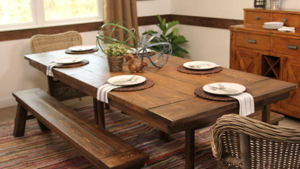 Boring Dining Room Goes Farmhouse Chic