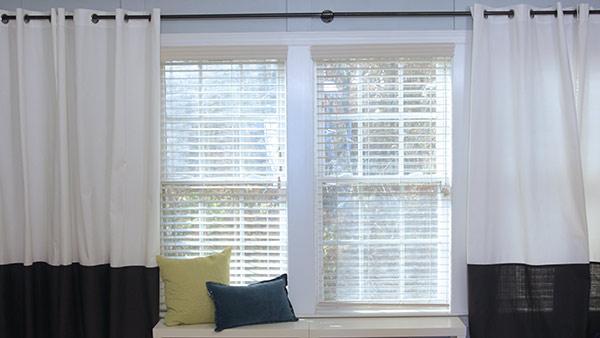 Diy Color Blocked Custom D And Extra Long Curtain Rod