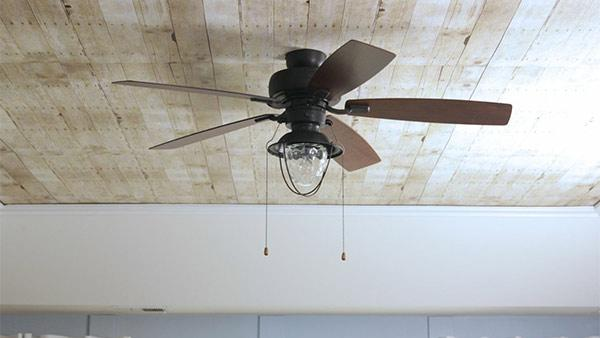 DIY Faux Wood Planked Ceiling