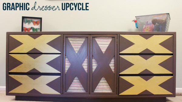 Upcycling an Old Dresser with Paint and Fabric