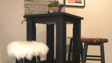 DIY Trendy Upholstered Bar Stools