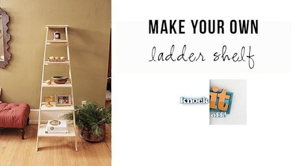 DIY Leaning Ladder Shelf