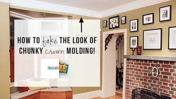 Diy Inexpensive Faux Crown Molding