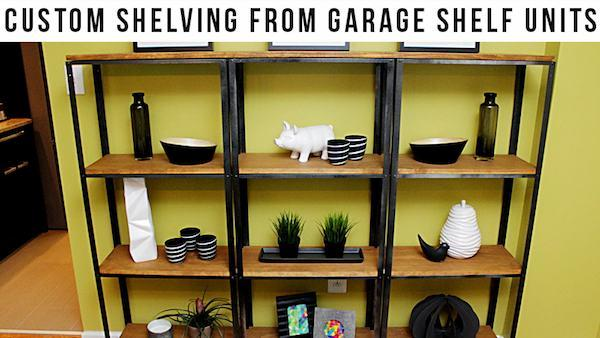Diy Wood And Metal Shelves Knock It Off The Live Well Network